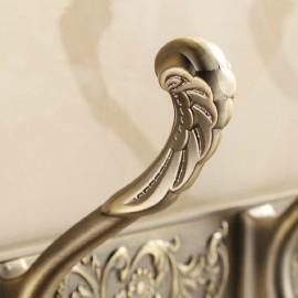 Antique Brass Bathroom 4 Hooks Towel Door Hangers