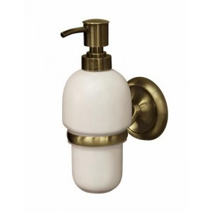 Antique Brass Wall Mounted Liquid Soap Dispenser C..